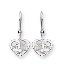 Disney Mickey Heart Cut Post Earrings