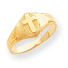 14k Yellow Gold Cross Child's Ring