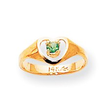 14k Yellow Gold May Birthstone Child Ring
