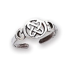 Sterling Silver Celtic Knot Solid Toe Ring