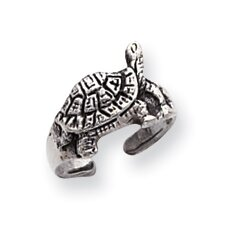 Sterling Silver Turtle Solid Toe Ring