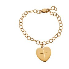 Heart and Cross Children Bracelet
