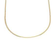 14k Yellow Gold Solid Flexible Herringbone Necklace