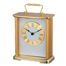 Sellier Musical Carriage Mantel Clock in Polished Brass