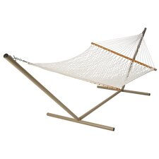 <strong>Castaway Hammocks</strong> Deluxe Rope Hammock with Stand