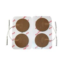 Pack of 4 Round Cloth Electrodes in Tan