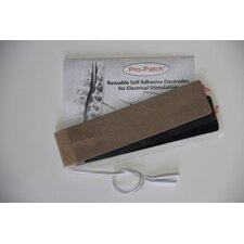 Strip Electrode Tan Cloth One Electrode With Two Lead Attachments