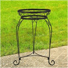 Scroll Braided Round Plant Stand
