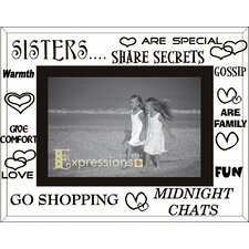 Moments Bevelled Glass Sisters Photo Frame