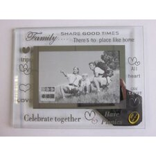 Moments Bevelled Glass Family Photo Frame