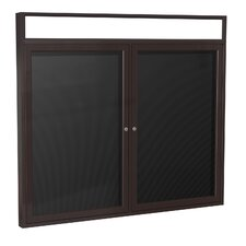 2-Door Illuminated Headliner Enclosed Flannel Letterboard