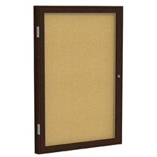 2-Door Enclosed Natural Cork Tackboard
