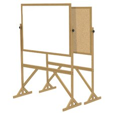 Reversible Acrylate/Cork Whiteboard with Wood Frame