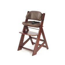 Height Right Kids Chair in Mahogany and Comfort Cushion in Chocolate