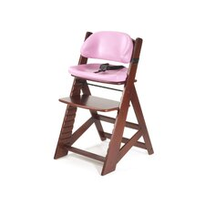 Height Right Kids Chair in Mahogany and Comfort Cushion in Lilac