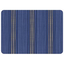 Hand Painted Stripe Decorative Mat