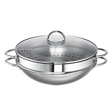 Ravenna 36cm Stainless Steel Wok with Lid