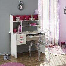 """Schreibtisch """"Lilou 3"""" mit Aufsatz und 2 Schubladen"""