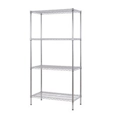 "All Purpose Wide Rack 72""H x 36""W 4 Shelf Shelving Unit"