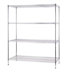 "All Purpose Wide Rack 72""H x 60""W 4 Shelf Shelving Unit"