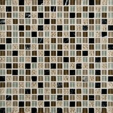 "Orion Blend Mesh Mounted 5/8"" x 5/8"" Glass and Natural Stone Mosaic Tile"