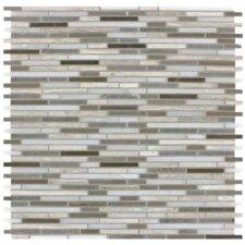 Arctic Storm Bamboo Honed Random Sized Mesh Mounted Natural Stone Mosaic Tile