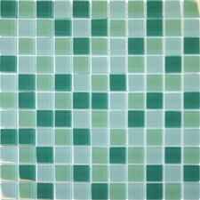 "12"" x 12"" Crystallized Glass Mosaic in Green Blend"