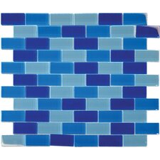 "12"" x 12"" Crystallized Glass Mosaic in Blue Blend"