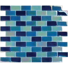 "<strong>MS International</strong> 12"" x 12"" Crystallized Glass Mosaic in Iridescent Blue Blend"