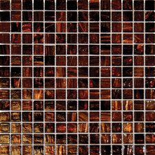 "3/4"" x 3/4"" Iridescent Glass Mosaic in Brown Iridescent"