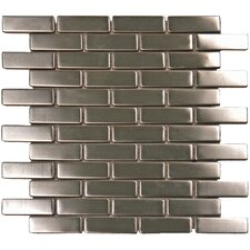 "2-1/2"" x 3/4"" Metal Mosaic in Silver"