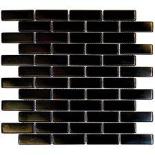 """2-1/2"""" x 3/4"""" Metal Mosaic in Black"""
