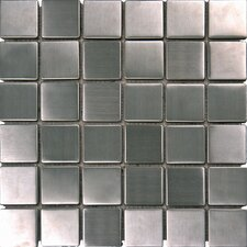 "<strong>MS International</strong> 12"" x 12"" Metal Mosaic in Silver"