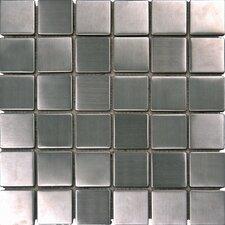 "2"" x 2"" Metal Mosaic in Silver"