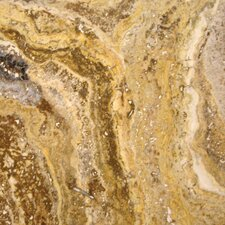 """18"""" x 18"""" Polished Travertine Tile in Tuscany Scabas"""