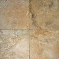 "6"" x 3"" Honed Travertine Tile in Durango"