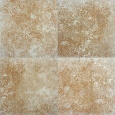 "SAMPLE - Travertino 12"" x 12"" Porcelain Tile in Walnut"