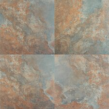 "Tulsa 13"" x 13"" Glazed Porcelain Tile in Rust"