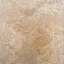 "SAMPLE - 12"" x 12"" Tumbled Travertine Tile in Tuscany Classic"