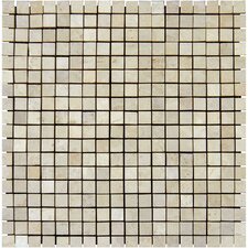 "<strong>MS International</strong> 12"" x 12"" Semi - Polished Travertine Mosaic in Tuscany Classic"