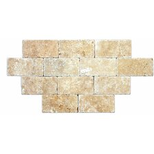 "SAMPLE - 6"" x 3"" Tumbled Travertine Tile in Tuscany Classic"
