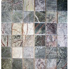 "<strong>MS International</strong> 12"" x 12"" Tumbled Marble Mosaic in Rain Forest"