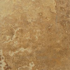 "12"" x 12"" Honed Travertine Tile in Noche Alpaca"