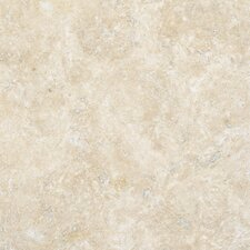 "<strong>MS International</strong> 6"" x 6"" Tumbled Travertine Tile in Durango Cream"