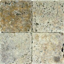 "SAMPLE - 6"" x 6"" Tumbled Travertine Tile in Tuscany Scabas"