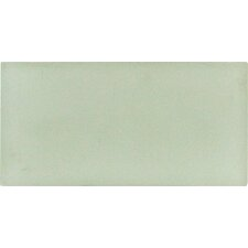 "Arctic Ice 6"" x 3"" Glass Wall Tile in White"