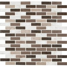 "Arctic Storm 12"" x 12"" Honed Marble Mesh Mounted Mosaic Tile in Brown"