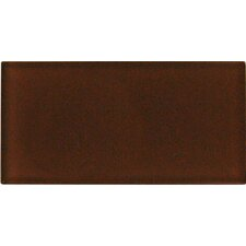 "Cinnamon 12"" x 6"" Glass Wall Tile in Brown"