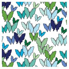 Animals Butterfly Pattern Stretched Canvas Art