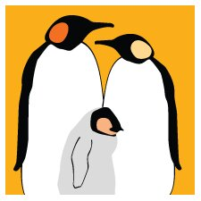 Animal - Penguins Stretched Wall Art